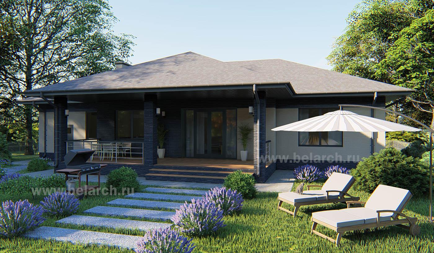 Проект удобного одноэтажного дома из газобетона