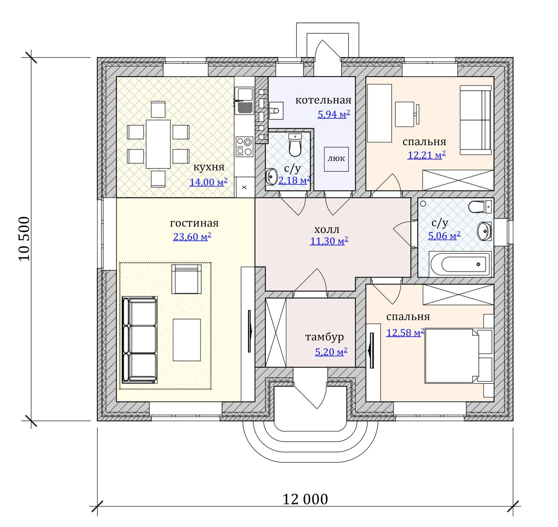 План дома 90 кв.м.