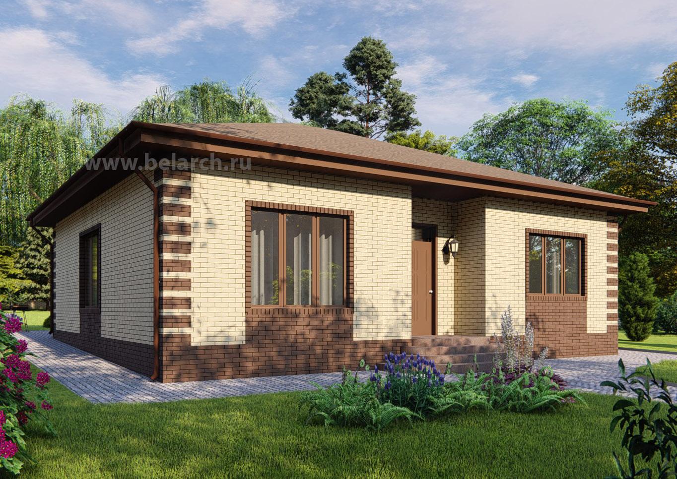 Проект дома 90 кв.м. фасадные решения