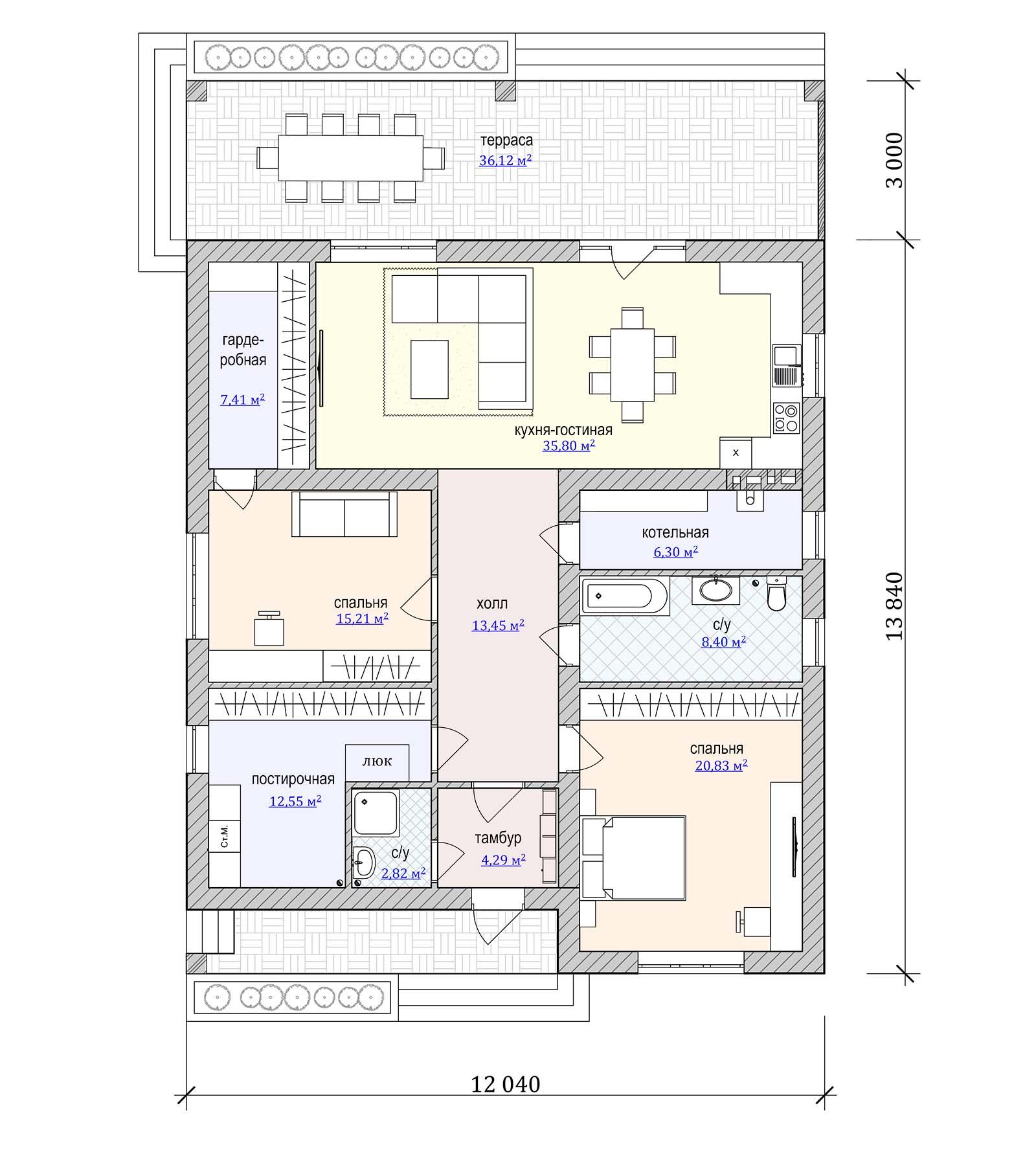 Проект стильного дома с плоской крышей