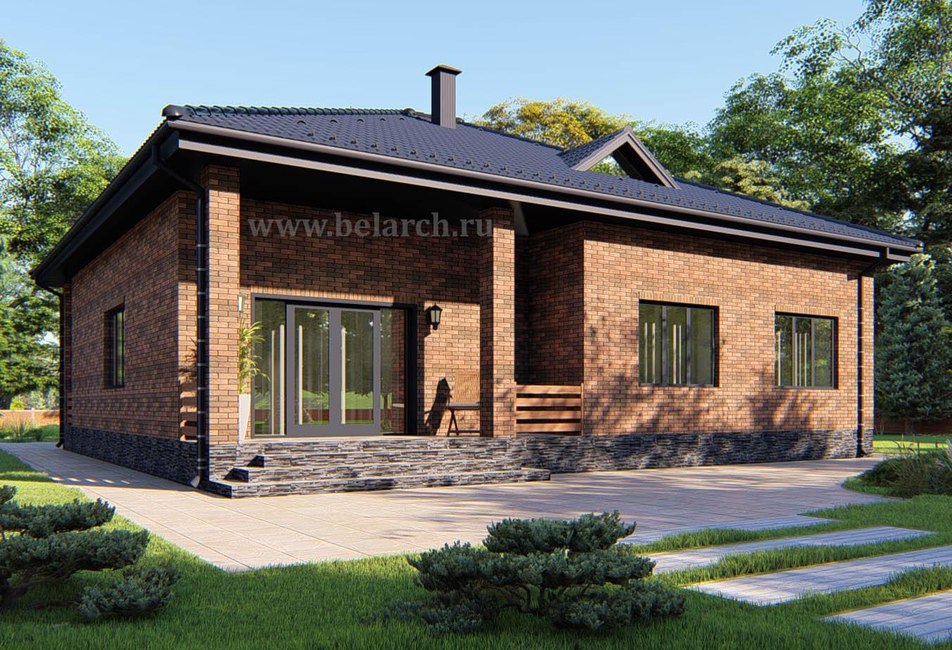 Проект дома из керамических блоков (теплой керамики) до 150 кв.м.
