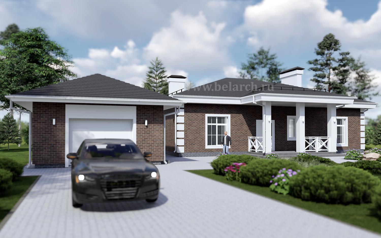 Проект дома со спальней, гостиной и детской до 180 м2